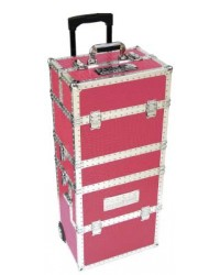 Pro Beauty Trolley Croco Rose 3 Niveau
