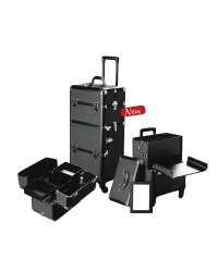 Professionele Beauty Trolley 2 in 1 Black Strass