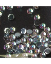 Rhinestone Round Clear Ice  S 100pcs