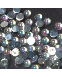 Rhinestone  Round Clear Ice M 100pcs