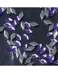 Rhinestone Diamond Purple 100pcs