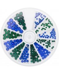 Strass Wheel Sapphire & Emerald 270 pcs