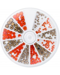 Strass Wheel Topaz & Hyacinth 270 pcs