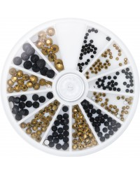 Strass Wheel Black & Gold 270 pcs