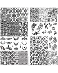 Stamping Plate Baroque & Floral 2 pcs.