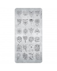 Stamping Plate Happy Floral 1 pcs.