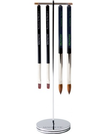 Click On brush Stand for 2 brushes silver