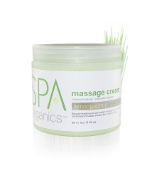 Massage Cream 450 gr. Lemongrass and Green Tea