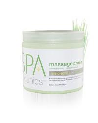 Massage Cream 450 gr. Lemongrass and Green Tea