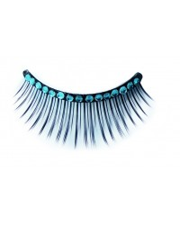 Eyelashes Blue Strass